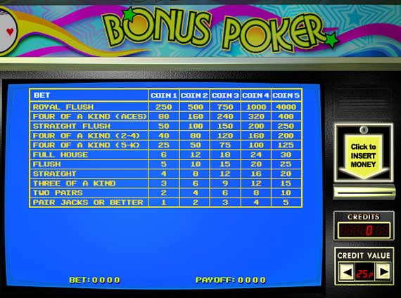 888 Bonus Poker