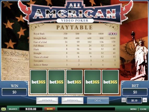 Bet365 All American Poker