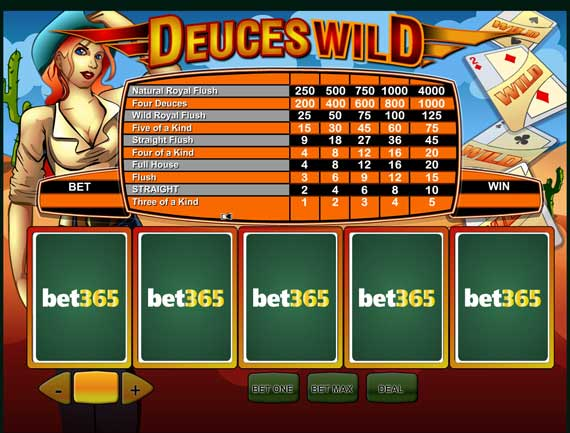 Bet365 Deuces Wild