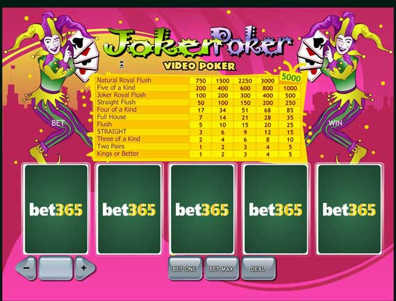 Bet365 Joker Poker