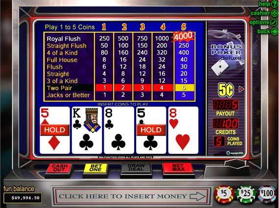 Bovada Bonus Poker Deluxe