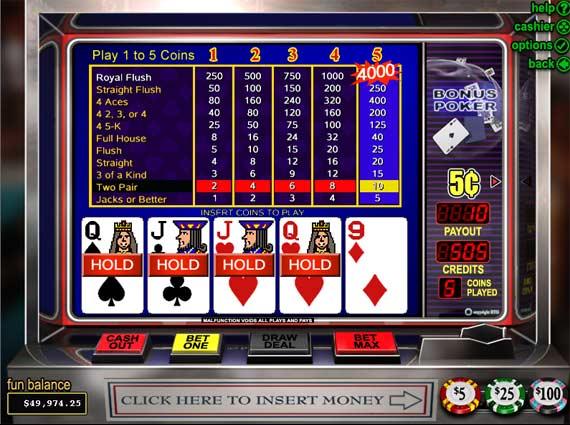 Bovada Bonus Poker