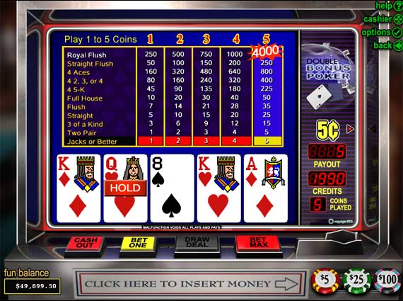 bonus video poker strategy