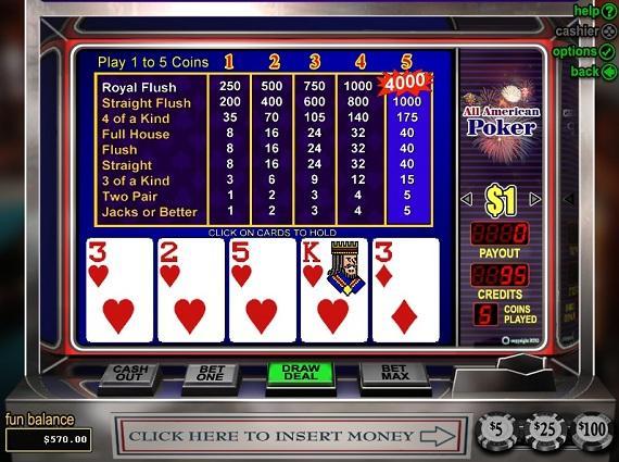 Classy Coin Casino All American Poker