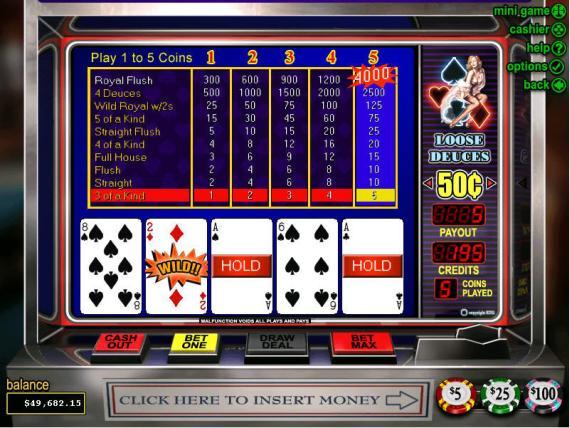 Classy Coin Casino Loose Deuces