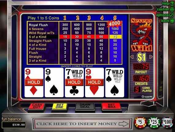 Classy Coin Casino Sevens Wild