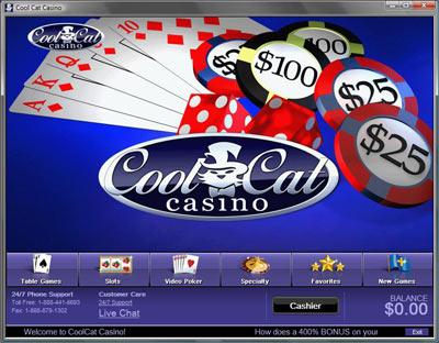 Cool Cat Casino Lobby