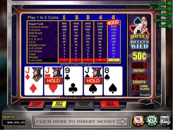 Grand Parker Casino Bonus Deuces Wild