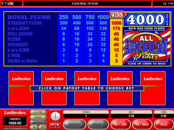 Ladbrokes All American Poker