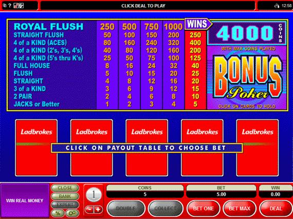 Juegos gratis video poker ladbrokes betting trifecta betting table