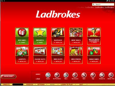 Ladbrokes Casino Lobby