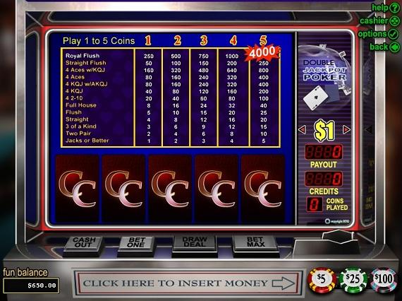 Loco Panda Casino Double Jackpot Poker