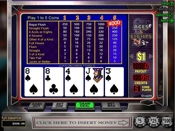 On Bling Casino Aces & Eights