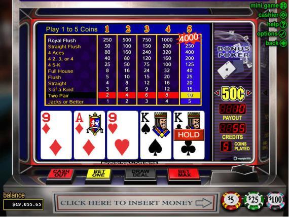 On Bling Casino Bonus Poker
