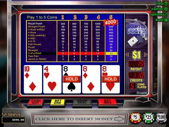 On Bling Casino Double Jackpot Poker