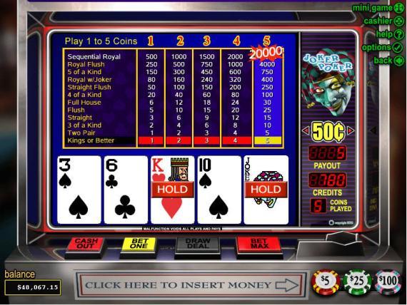 On Bling Casino Joker Poker