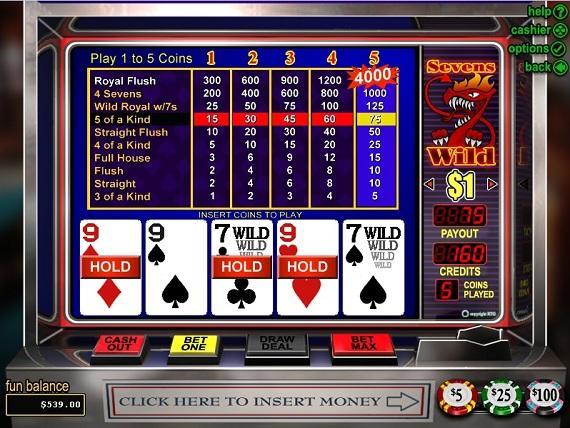 On Bling Casino Sevens Wild