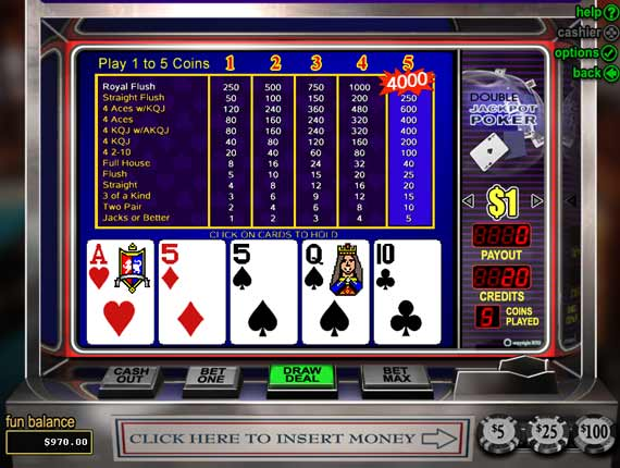 Silver Oak Double Jackpot Poker