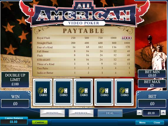 William Hill All American Poker