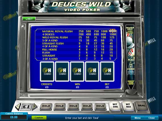 William Hill Deuces Wild