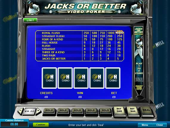 William Hill Jacks or Better