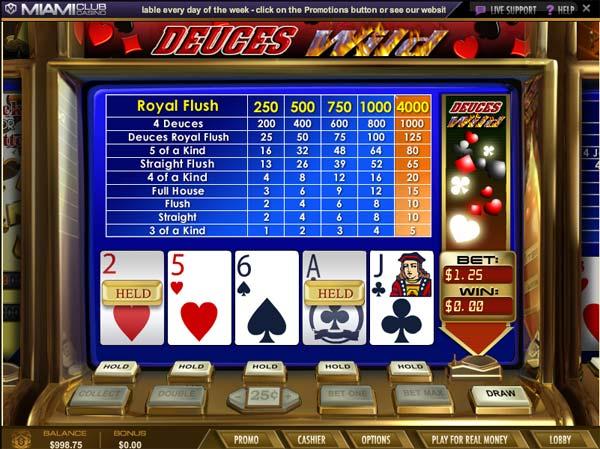 Miami Club Casino Deuces Wild